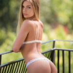 Sydney Cole shows off her booty in lingerie - Blacked